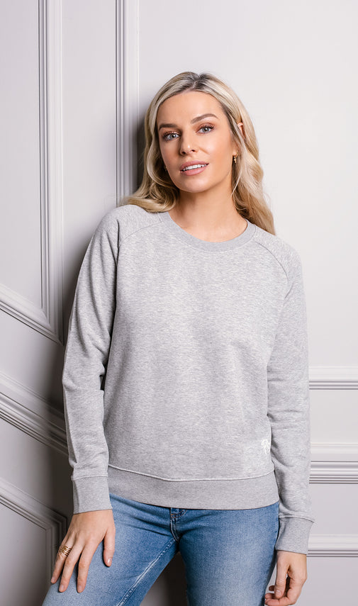 WFH Sweatshirt Grey Marl