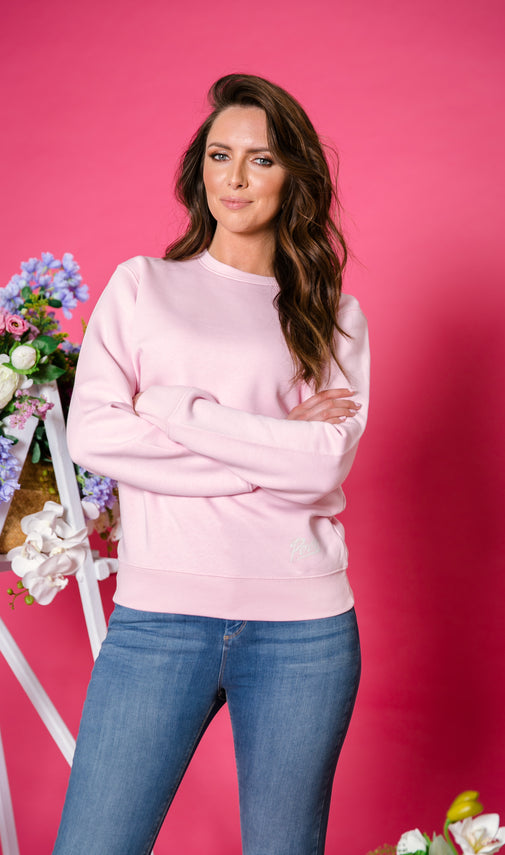WFH Oversized Sweatshirt Cotton Pink