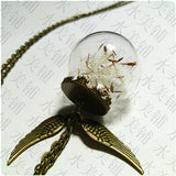 Handmade Flying Dandelion Seeds Necklace