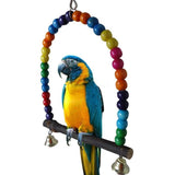 Colorful Parrot Swing Cage Toy