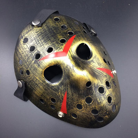 Golden Halloween Mask - Jason Voorhees