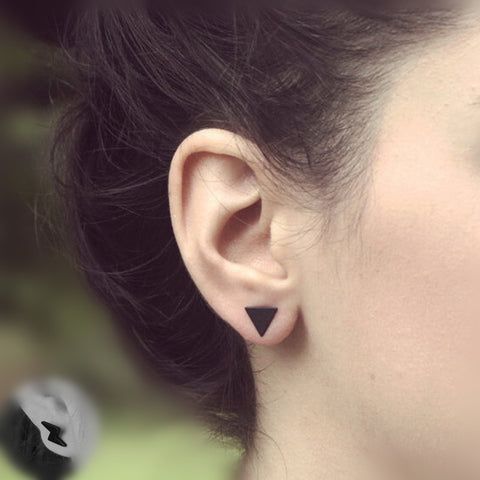 Black Silver Earrings - 3 Color Option