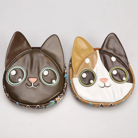 2016 3D Cute cartoon cat coin purse ,  creative purse as  gifts