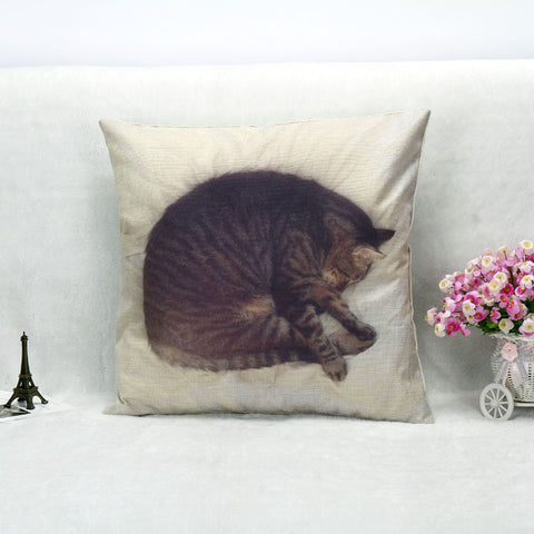 3D Lovely Cat Pillowcase - 45 x 45 CM