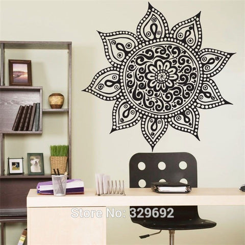 Yoga Mandala Vinyl Wall Decor