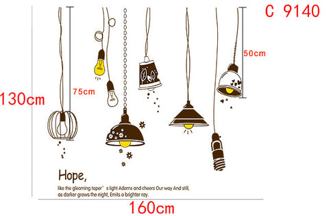 Shine Light Bulb Wall Sticker
