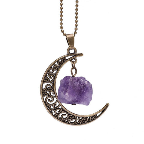 Vintage Galaxy Moon Necklace