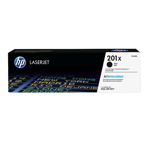 HP 201X (CF400X) Color LaserJet Pro M252 MFP M277 High Yield Black Original LaserJet Toner Cartridge (2800 Yield)