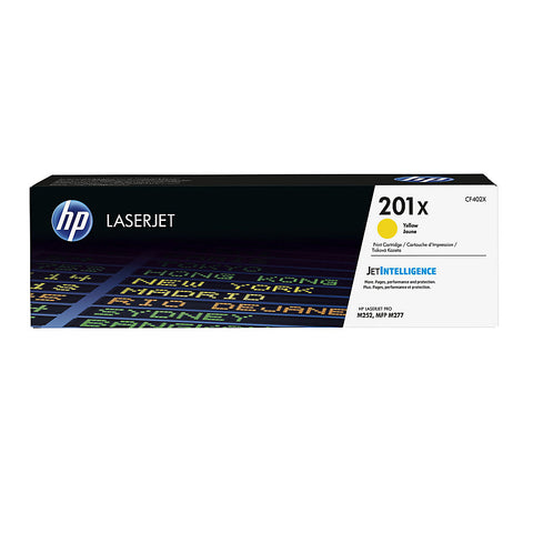 HP 201X (CF402X) Color LaserJet Pro M252 MFP M277 High Yield Yellow Original LaserJet Toner Cartridge (2300 Yield)