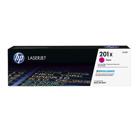 HP 201X (CF403X) Color LaserJet Pro M252 MFP M277 High Yield Magenta Original LaserJet Toner Cartridge (2300 Yield)