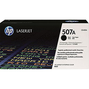 HP 507A (CE400A) Black Original LaserJet Toner Cartridge (5500 Yield)