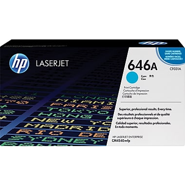 HP 646A (CF031A) Color LaserJet CM4540 MFP Cyan Original LaserJet Toner Cartridge (12500 Yield)
