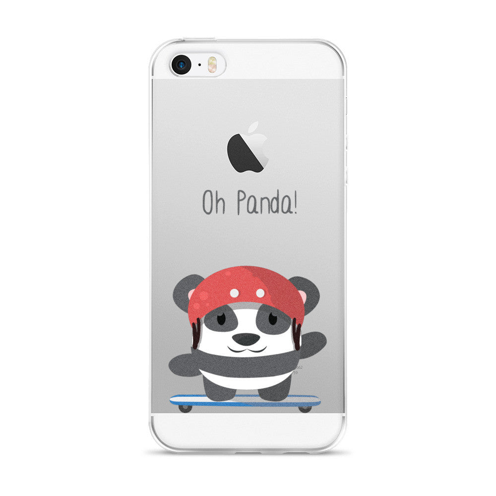 Skating Panda - iPhone 5/5s/Se, 6/6s, 6/6s Plus Case