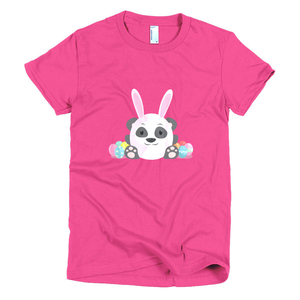 Easter Panda - Short sleeve women's t-shirt