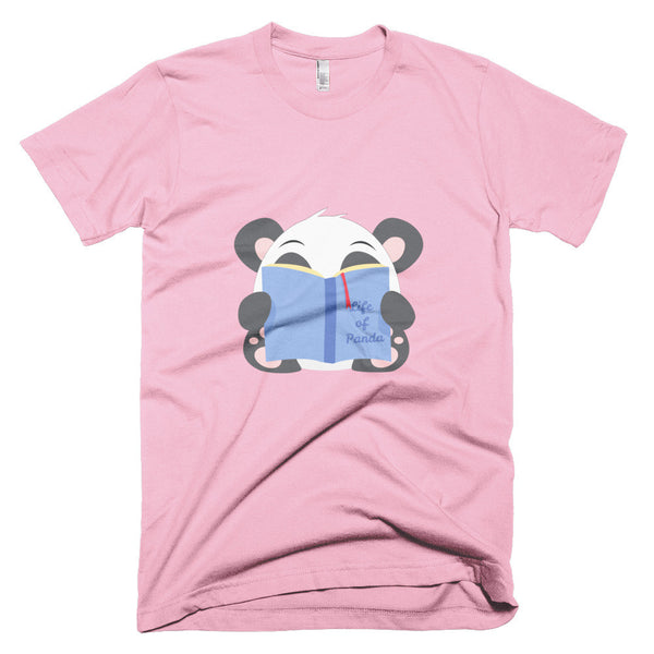 Reading Panda - Short sleeve men's t-shirt