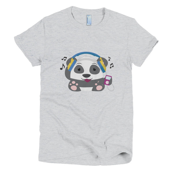 DJ Panda - Short sleeve women's t-shirt