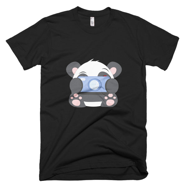 Paparazzi Panda - Short sleeve men's t-shirt