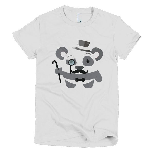 Gentleman Panda - Short sleeve women's t-shirt