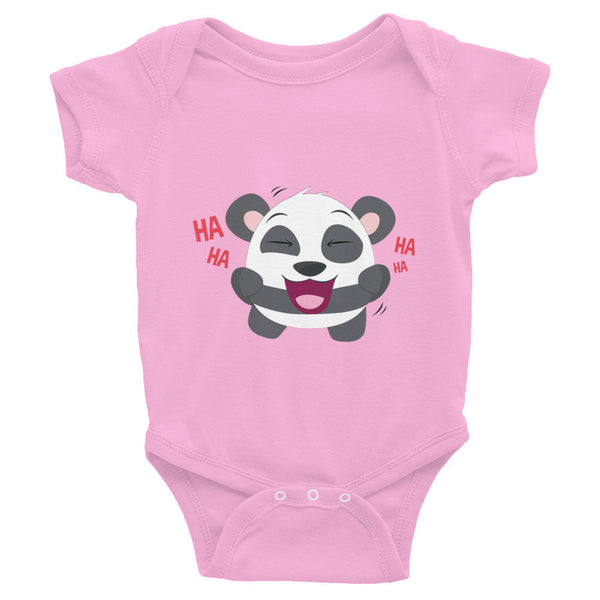 Laughing Panda - Baby short sleeve one-piece
