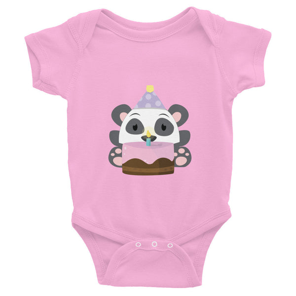 Birthday Panda - Baby short sleeve one-piece