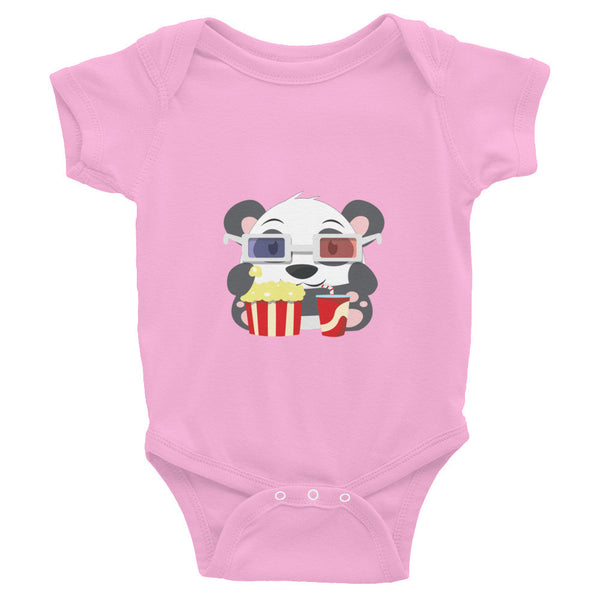 Popcorn Panda - Baby short sleeve one-piece