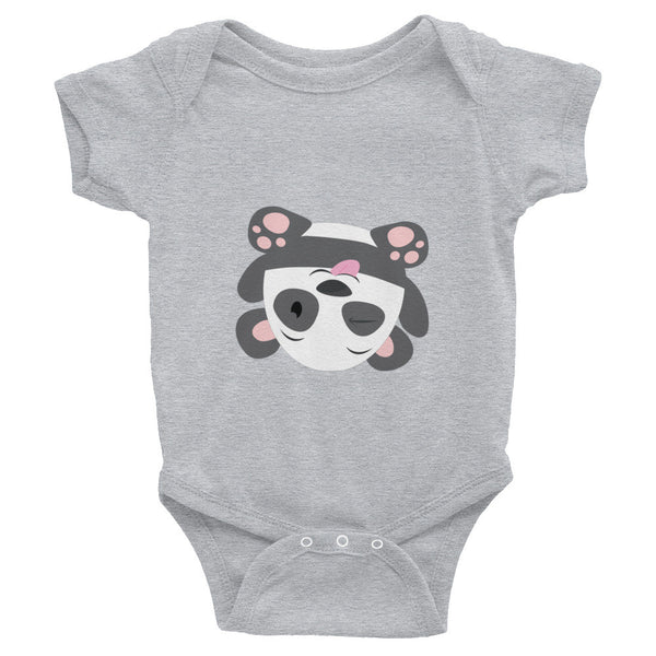 Silly Panda - Baby short sleeve one-piece