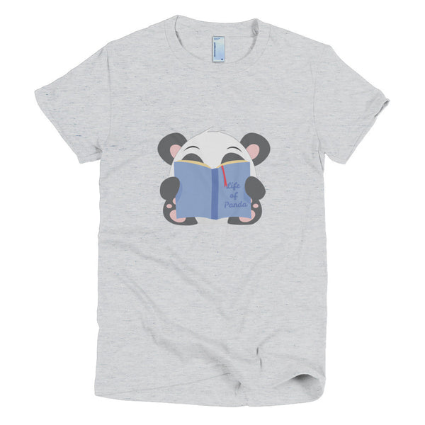 Reading Panda - Short sleeve women's t-shirt