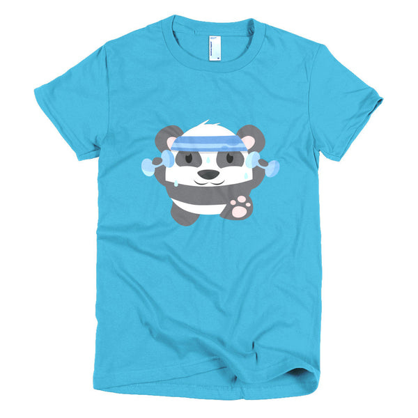 Fitness Panda - Short sleeve women's t-shirt