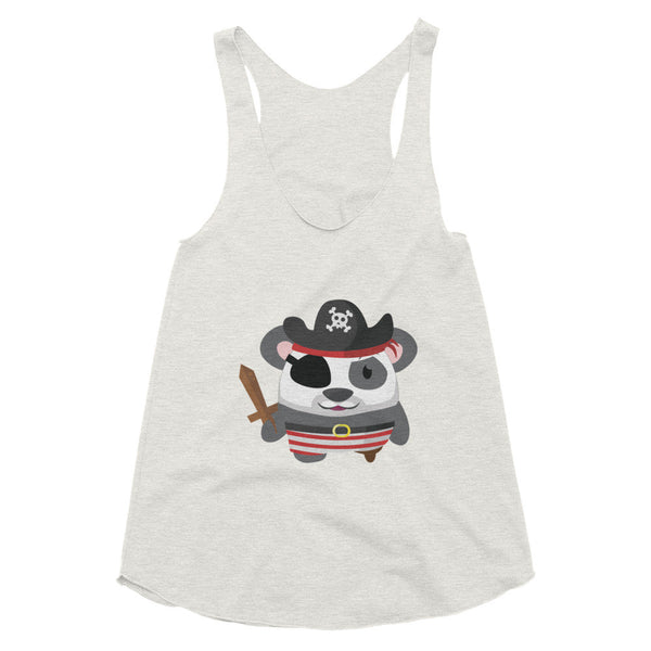 Pirate Panda - Women's racerback tank