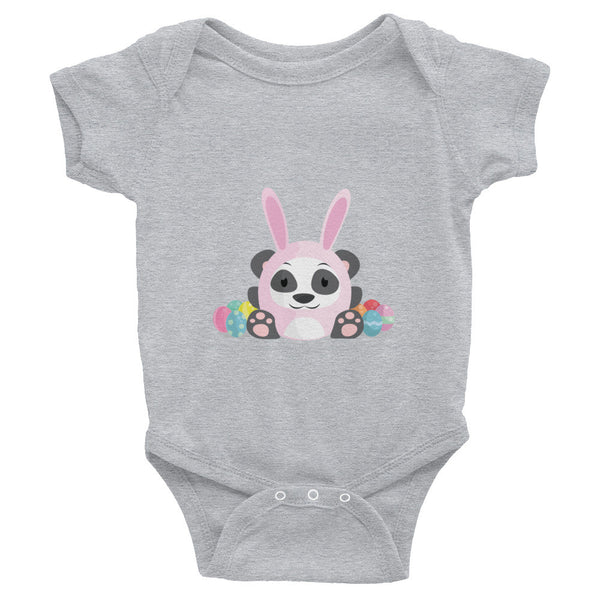 Easter Panda - Baby short sleeve one-piece