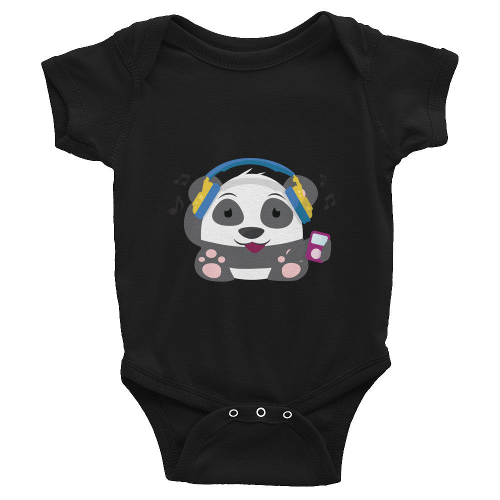 DJ Panda - Baby short sleeve one-piece