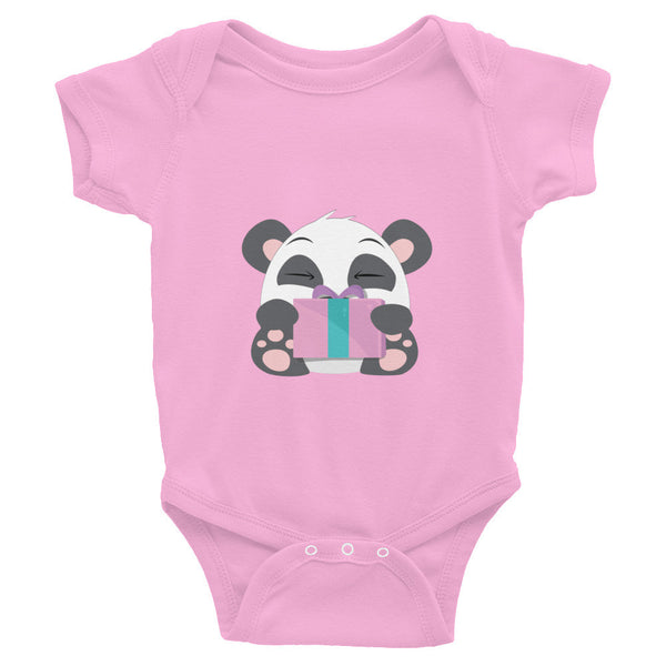 Gifted Panda - Baby short sleeve one-piece