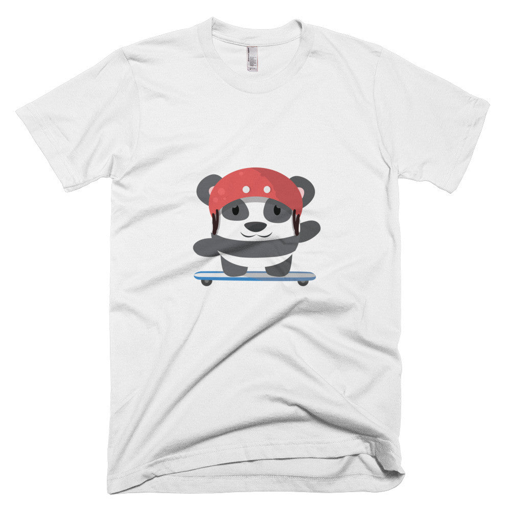 Skating Panda - Short sleeve men's t-shirt