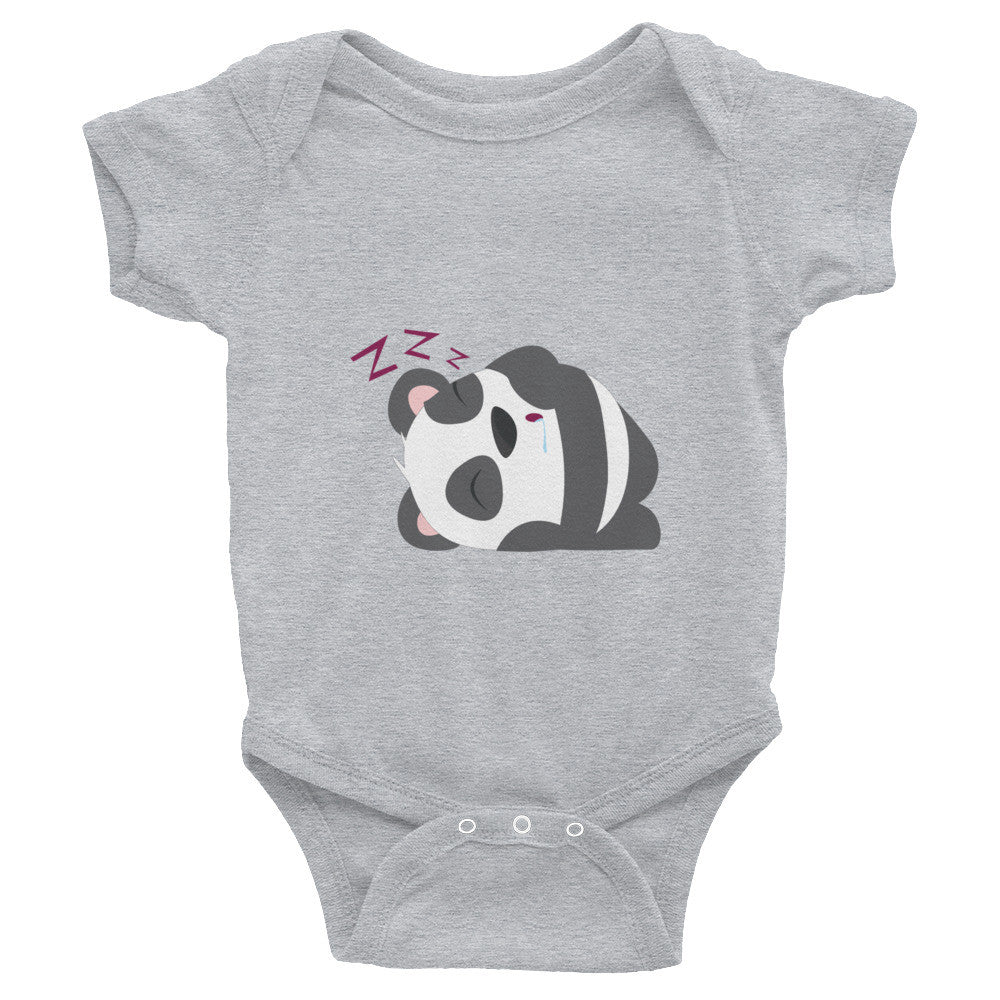 Sleeping Panda - Baby short sleeve one-piece