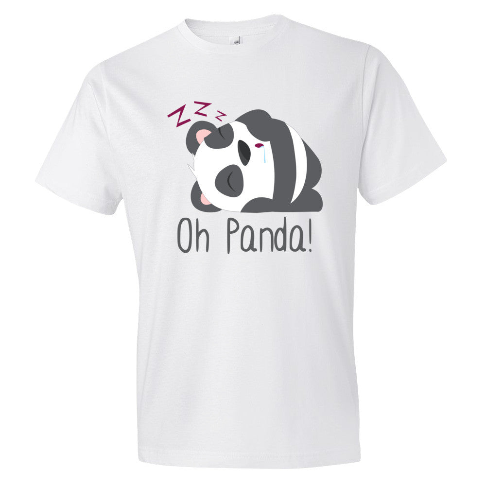 White T-Shirt - Sleep - Oh Panda!