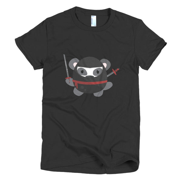 Ninja Panda - Short sleeve women's t-shirt