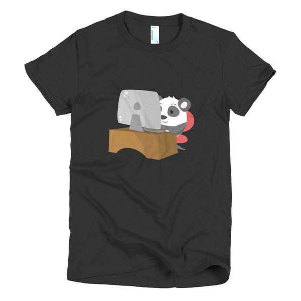 Geek Panda - Short sleeve women's t-shirt