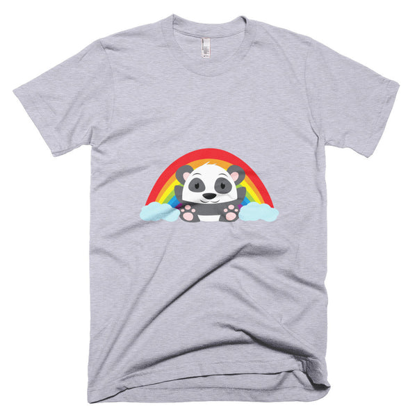 Rainbow Panda - Short sleeve men's t-shirt