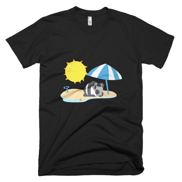 Beach Panda - Short sleeve men's t-shirt