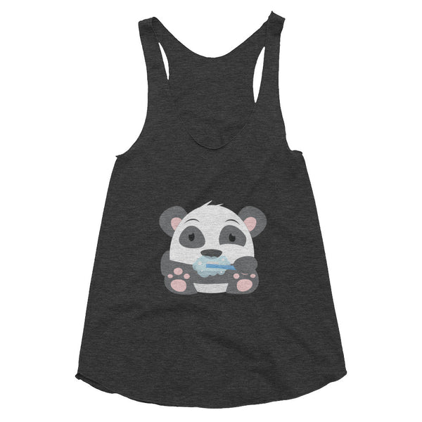 Clean Teeth Panda - Women's racerback tank