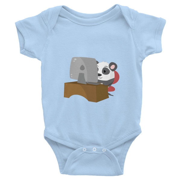 Geek Panda - Baby short sleeve one-piece