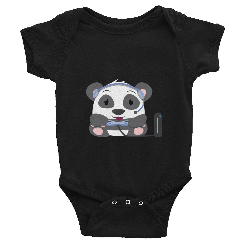 Gamer Panda - Baby short sleeve one-piece