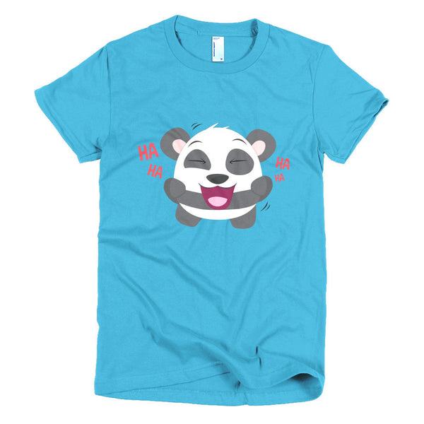 Laughing Panda - Short sleeve women's t-shirt