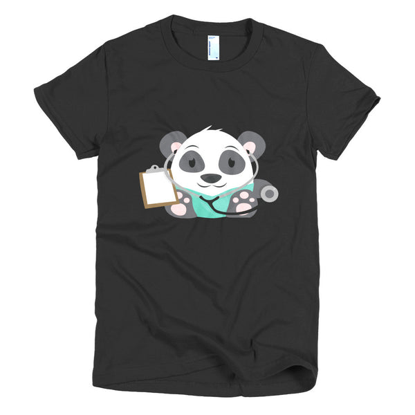 Doctor Panda - Short sleeve women's t-shirt