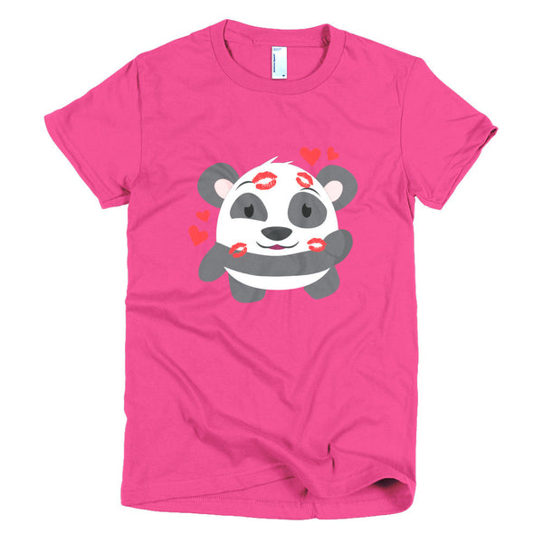 Kiss Panda - Short sleeve women's t-shirt