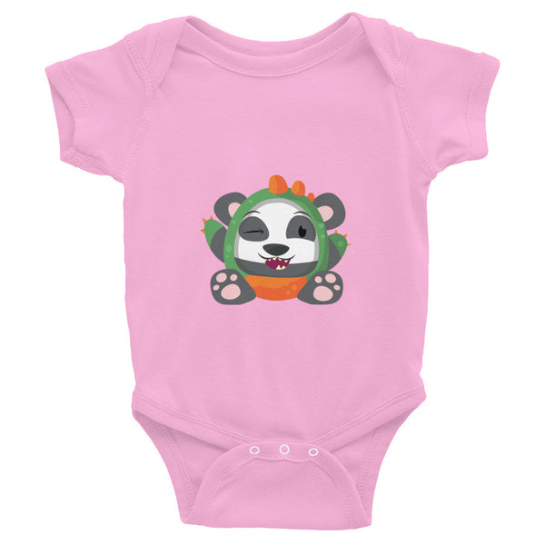 Dino Panda - Baby short sleeve one-piece