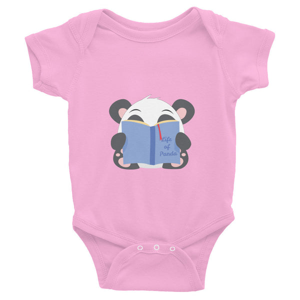 Reading Panda - Infant short sleeve one-piece