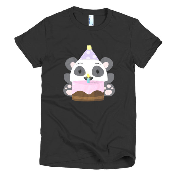 Birthday Panda - Short sleeve women's t-shirt
