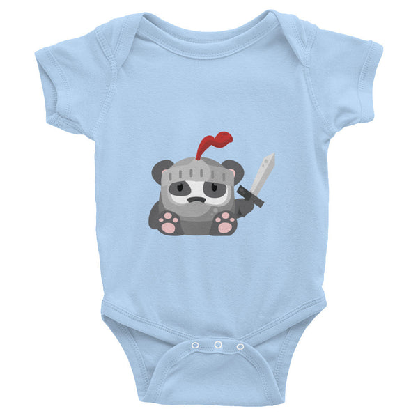 Medieval Panda - Baby short sleeve one-piece