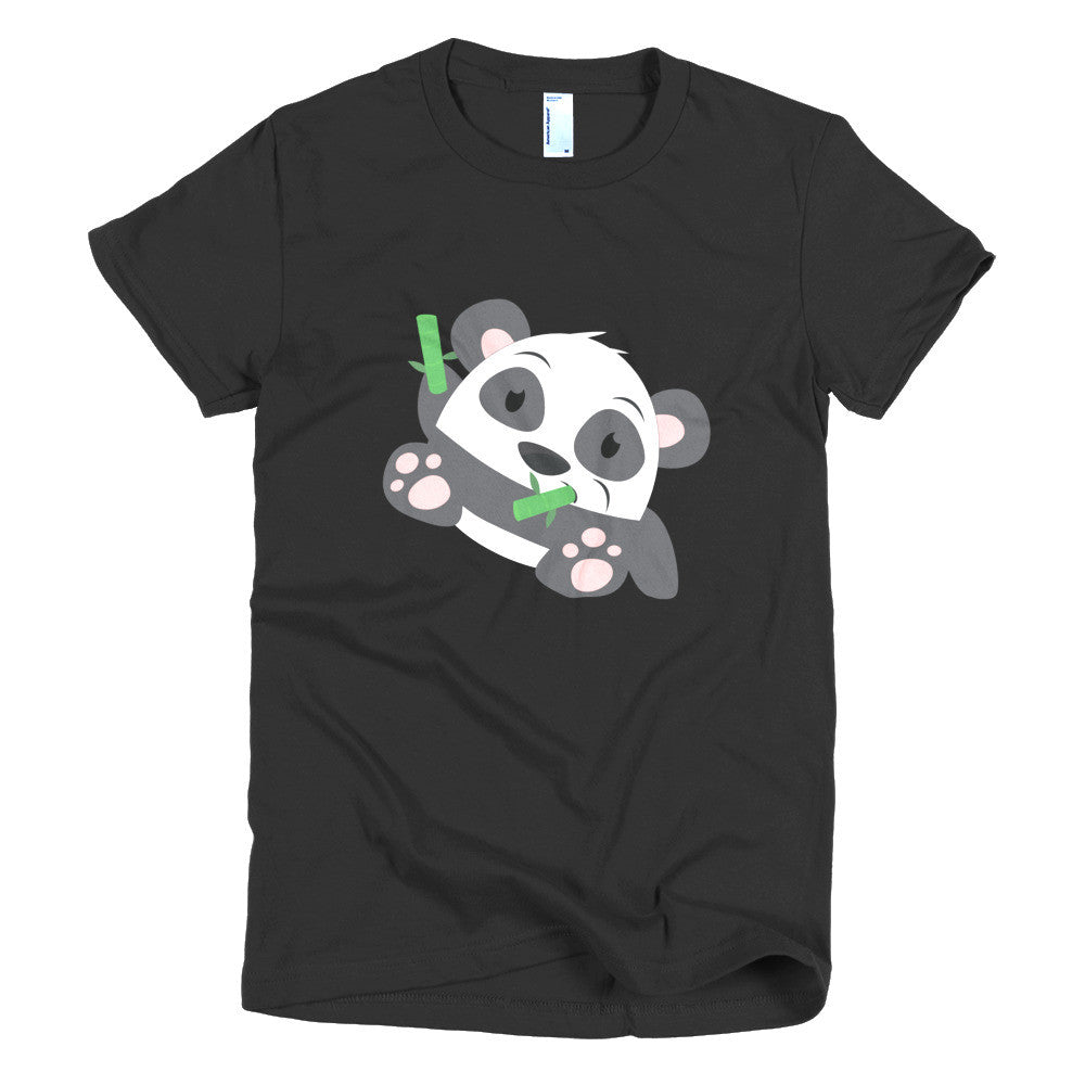 Bamboo Panda - Short sleeve women's t-shirt